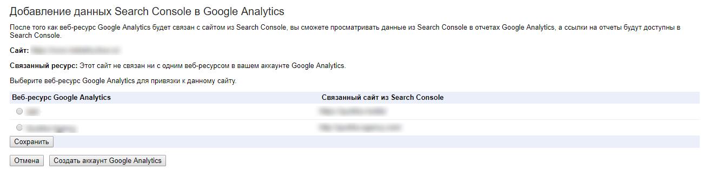 Ресурс Google Analytics