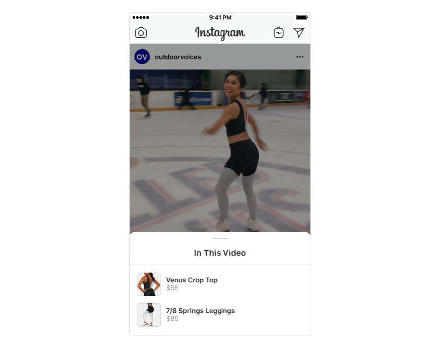 Instagram Shopping video