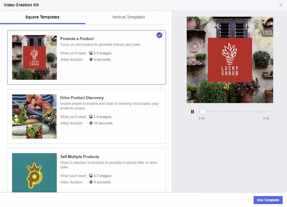 facebook video creation kit