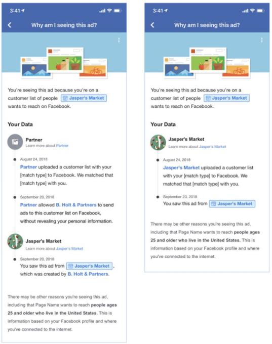 Facebook Custom Audiences Transparency