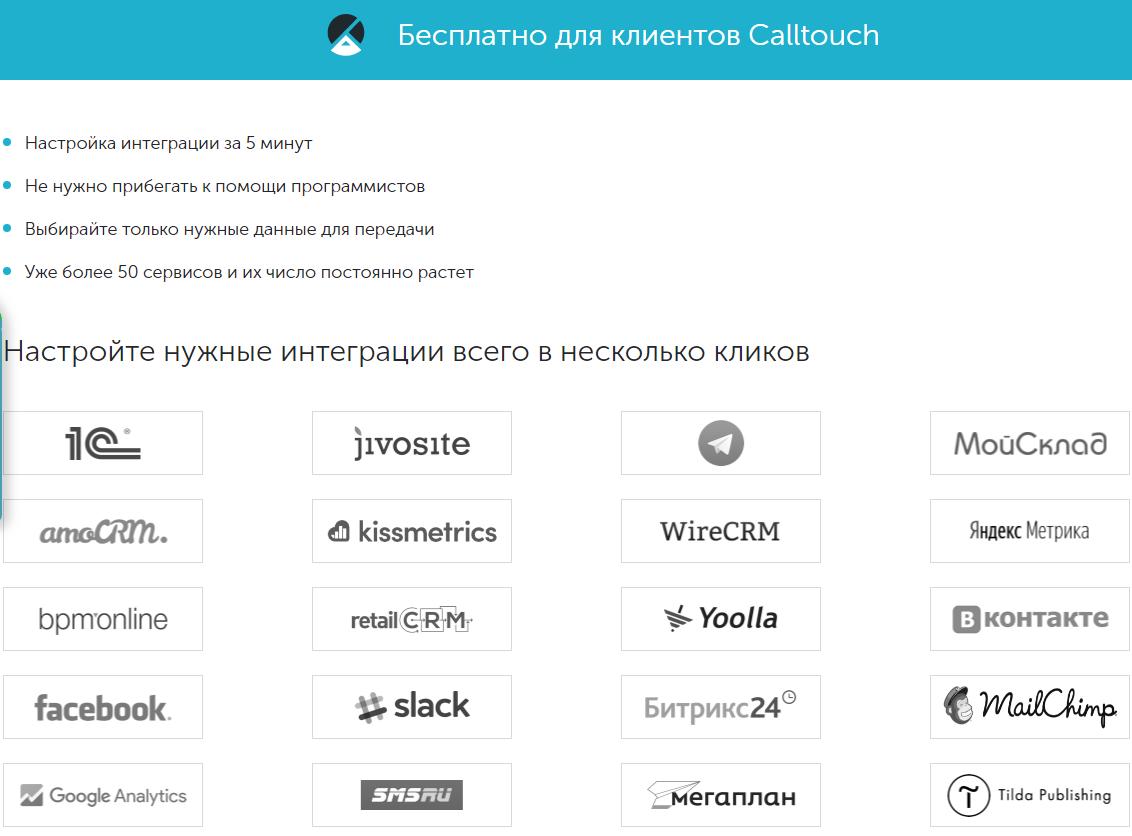 Интеграция Calltouch через сервис Albato