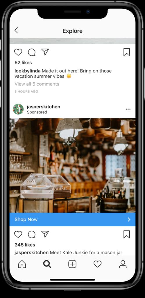 instagram explore ads