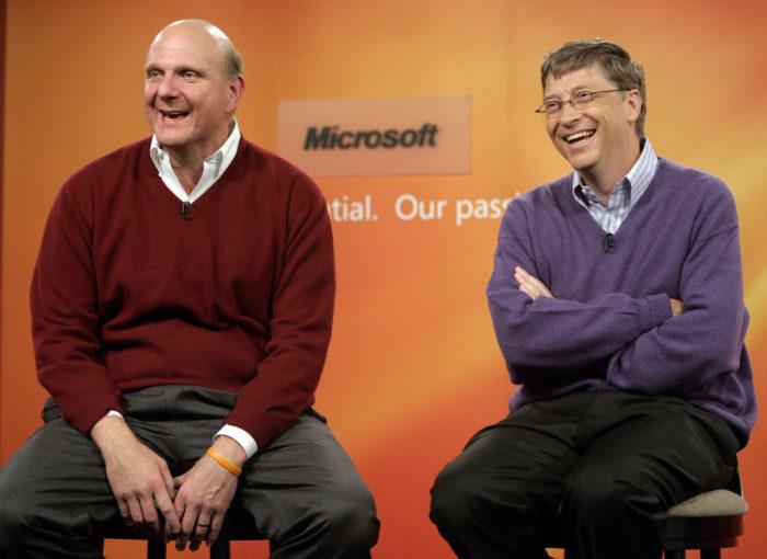 Стив Баллмер и Билл Гейтс