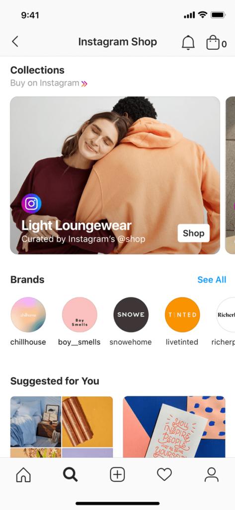 В Instagram Shop пользователи могут покупать товары у брендов и блогеров