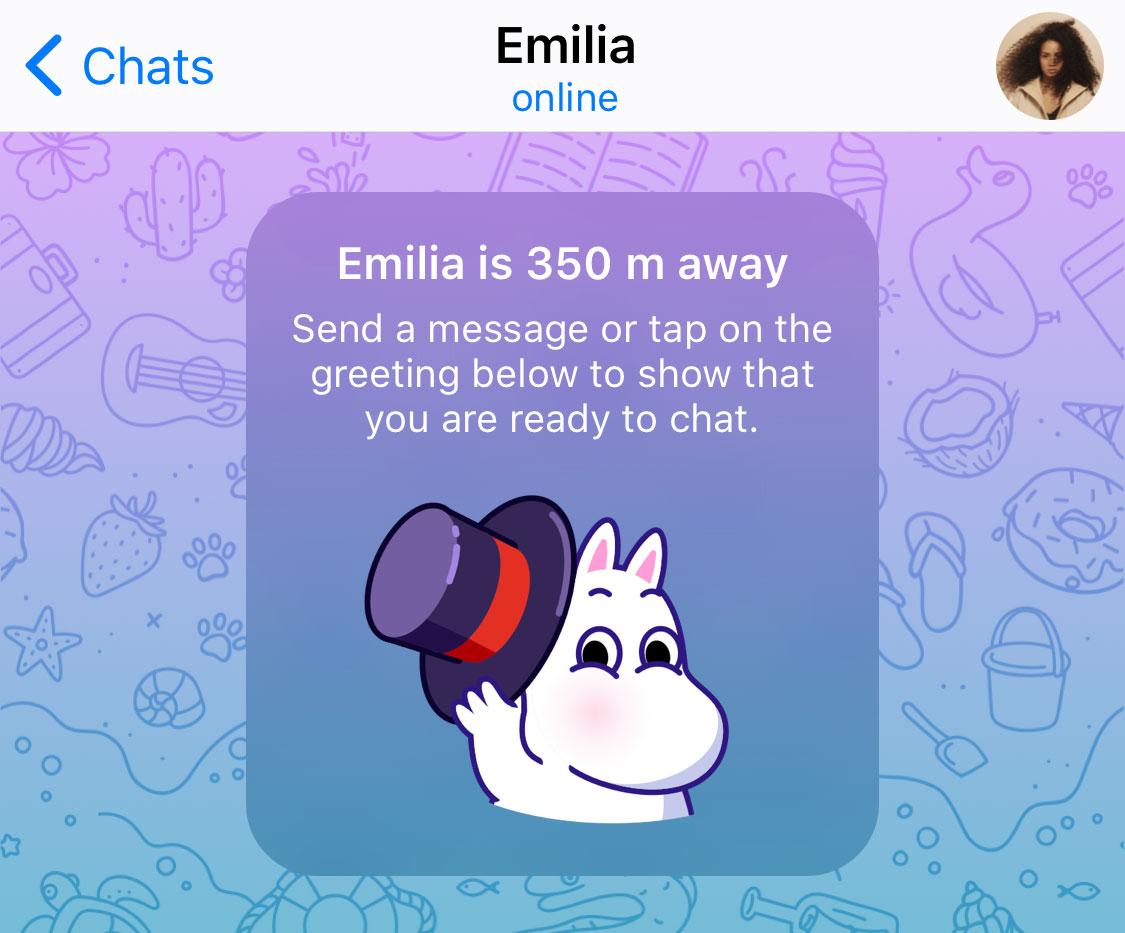 Новые функции в разделе «Люди рядом» в Telegram