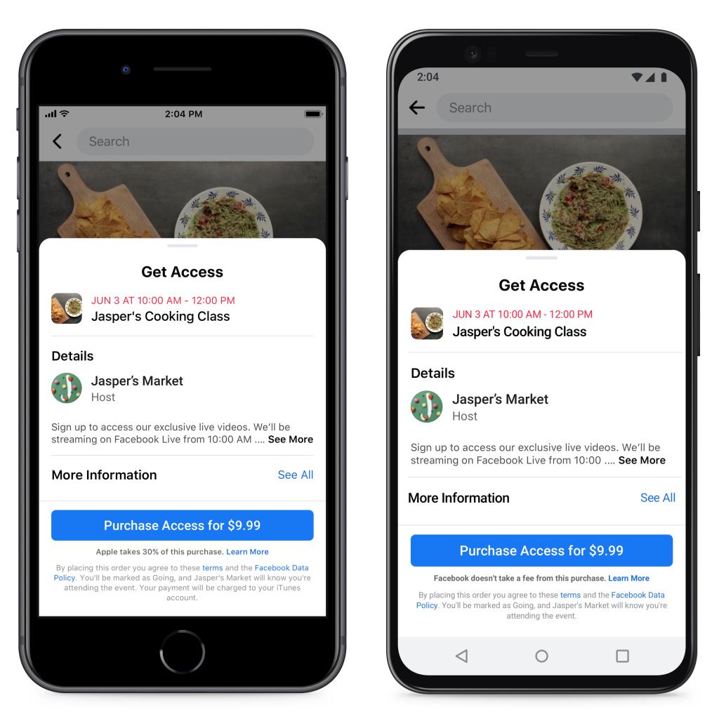 Процесс оплаты на iOS и на Android