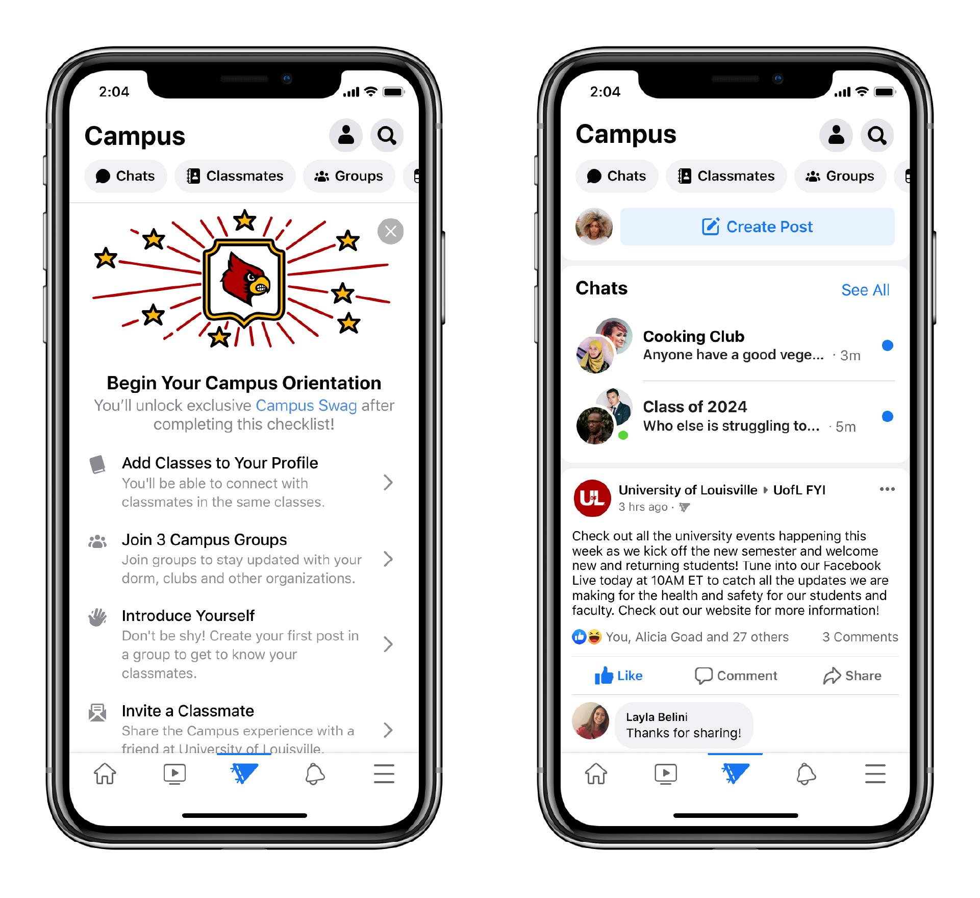Facebook запустила платформу для учащихся колледжей и университетов