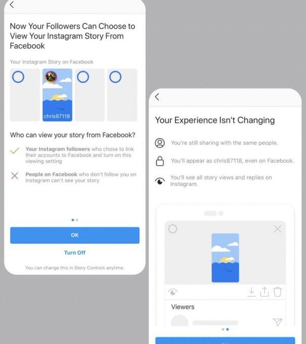 «Истории» из Instagram станут доступными для просмотра в Facebook