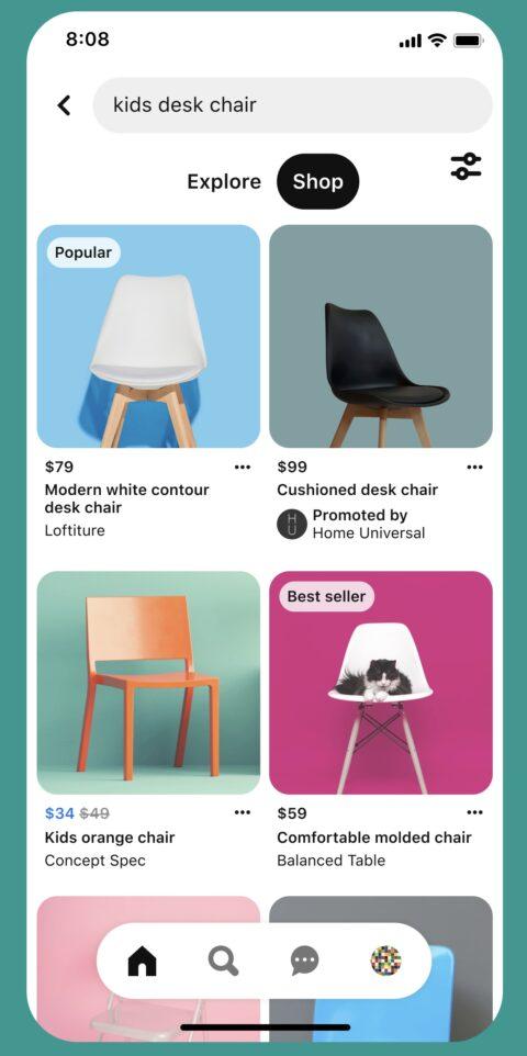 Pinterest тестирует новые функции для e-commerce