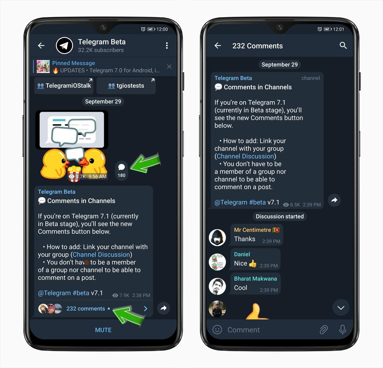 Telegram начал тестировать комментарии к записям