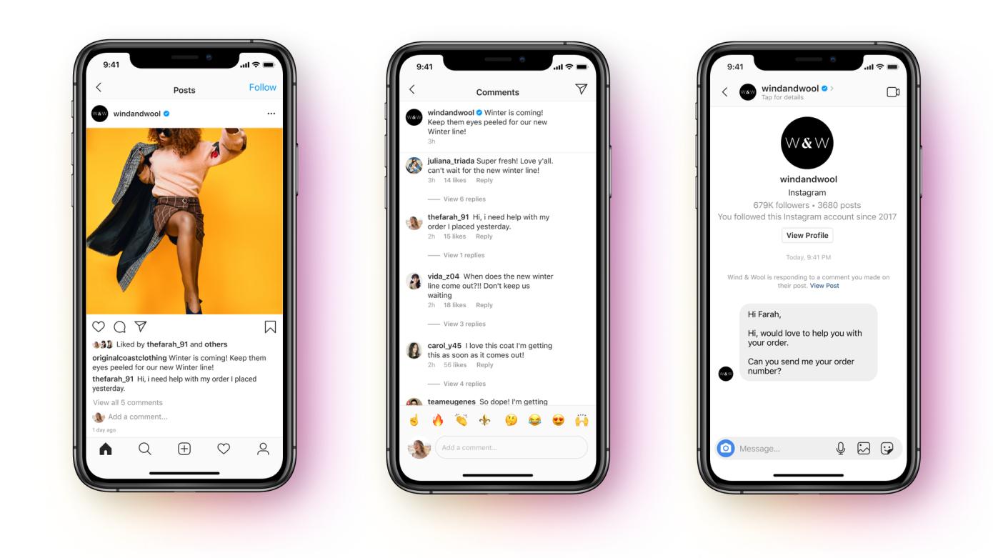 Facebook представил Messenger API с поддержкой Instagram