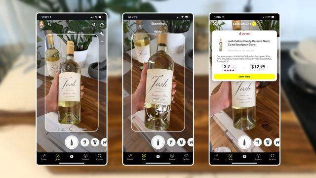 В Snapchat добавили функцию по распознаванию еды и вина
