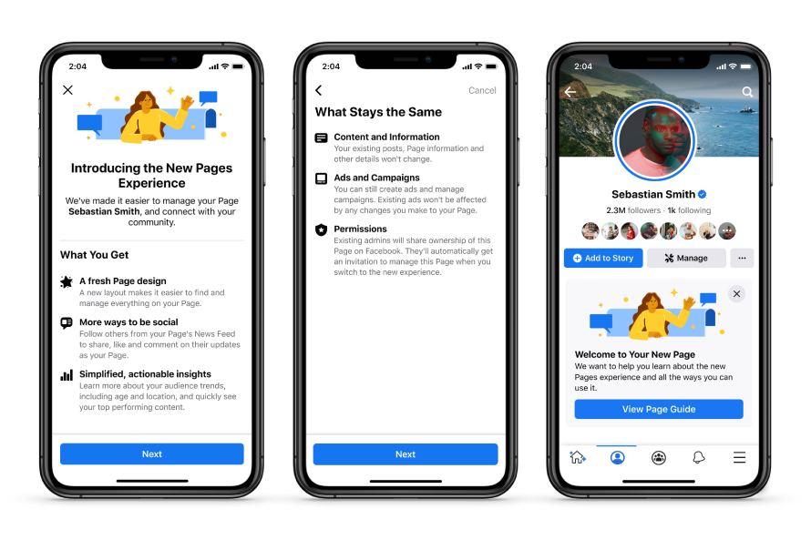 Facebook запустил новую версию публичных страниц