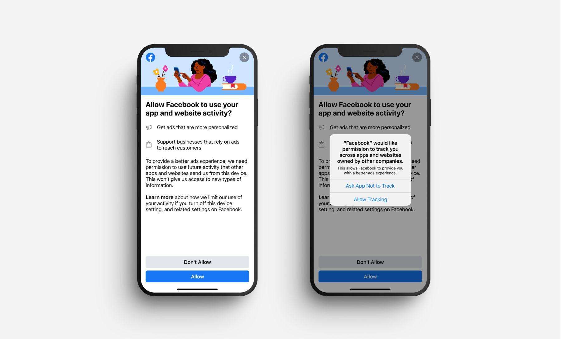 Facebook тестирует уведомления, чтобы убедить пользователей iPhone разрешить отслеживание