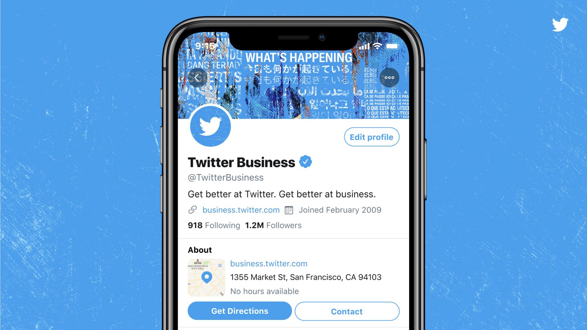 Twitter тестирует бизнес-профили