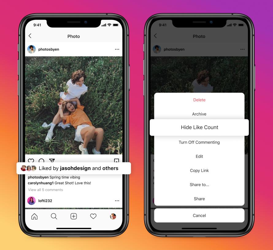 В Facebook и Instagram пользователи могут скрывать лайки