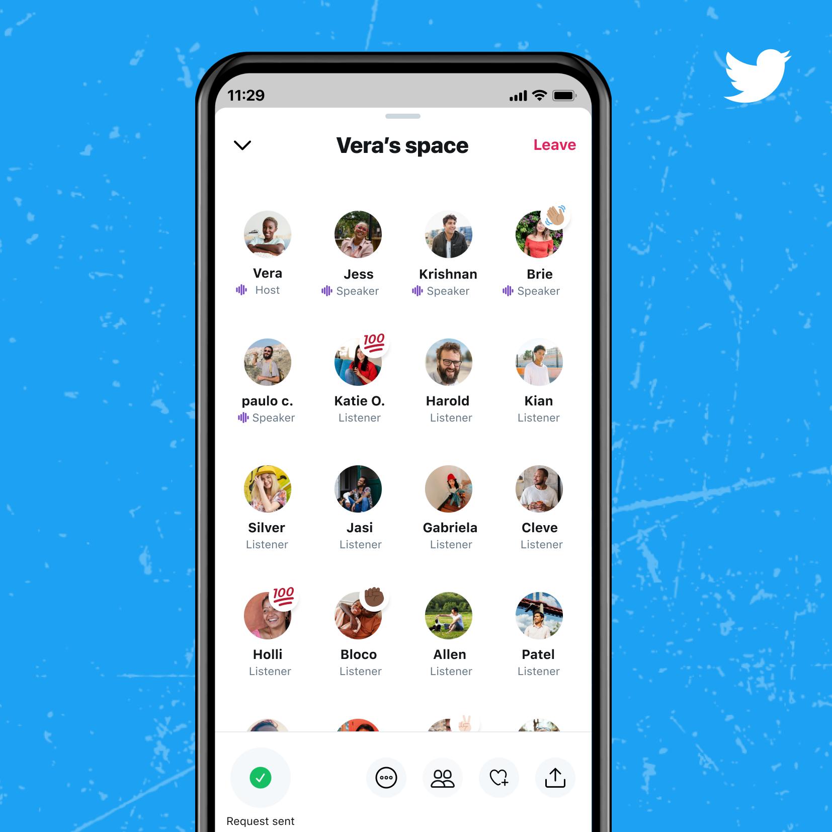 Spaces от Twitter доступен аккаунтам с 600 и более подписчиками