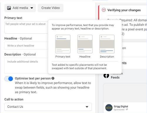 Facebook будет оптимизировать текст рекламы под каждого пользователя