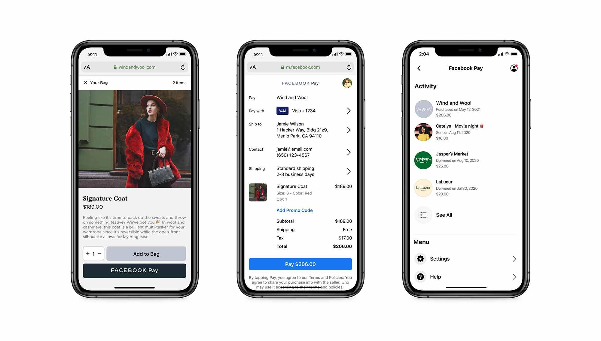 Facebook Pay станет доступен интернет-магазинам