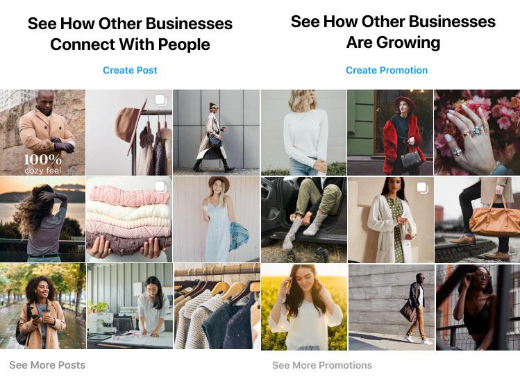 Instagram добавил в бизнес-аккаунты вкладку с контентом похожих компаний