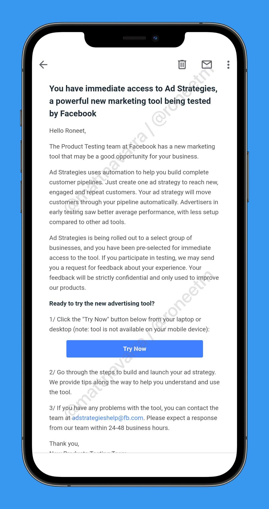 Facebook тестирует новый инструмент Ad Strategies для маркетологов