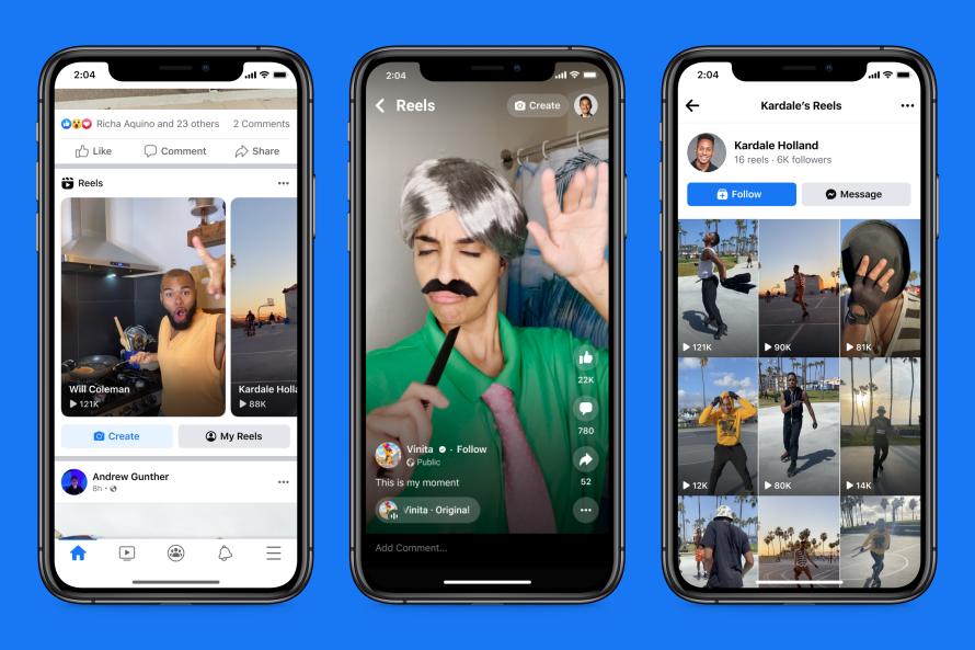 В Facebook появился раздел Reels для пользователей США