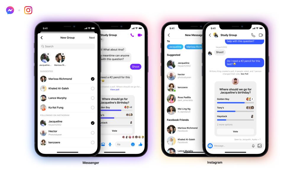 Пользователи Instagram могут присоединиться к групповым чатам в Messenger